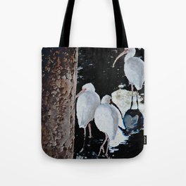 Ibises Under a Bridge (revamped) Tote Bag