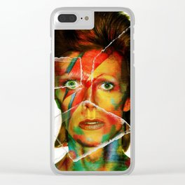 Broken Bowie Clear iPhone Case