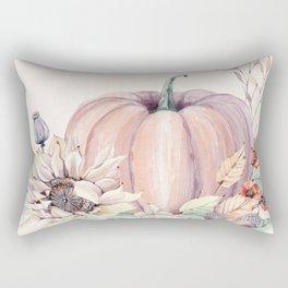 Autumn Pumpkin Cream Rectangular Pillow