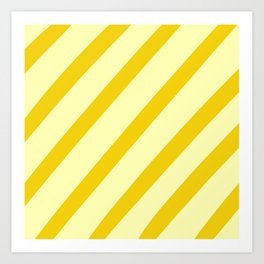Sunny Stripes Art Print