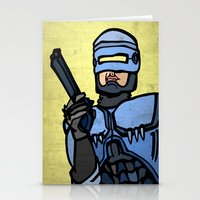robocop Stationery Cards featuring RoboCop by Rat McDirtmouth