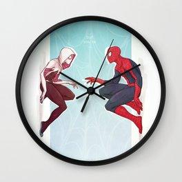 Worlds Collide Wall Clock