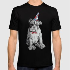 Party Dog Mens Fitted Tee Black MEDIUM
