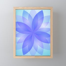 Abstract Lotus Flower G303 Framed Mini Art Print