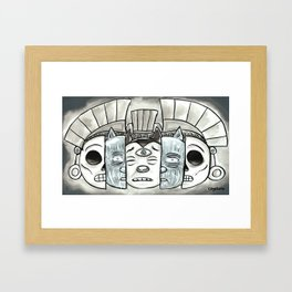 The Mask of Death and Rebirth Framed Art Print