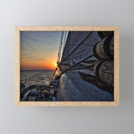 Sunset Sail Framed Mini Art Print