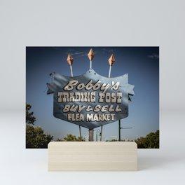 Vintage Repurposed Neon Sign along Route 66 Santa Rosa New Mexico Mini Art Print
