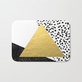 Rexa - gold abstract minimal tribal glitter triangle geometric art cell phone case brooklyn austin  Bath Mat