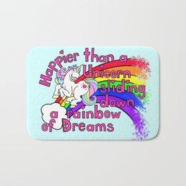 Happy Unicorn Bath Mat