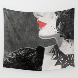 Red Lips Wall Tapestry