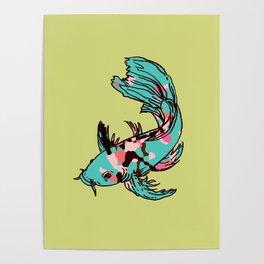 AriZona Butterfly Koi Poster