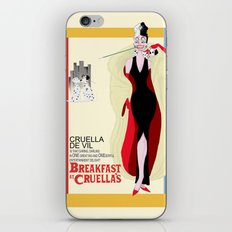 Breakfast at Cruella's iPhone & iPod Skin