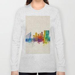 Rotterdam The Netherlands Skyline Long Sleeve T-shirt