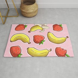 Strawberry and Banana Rug
