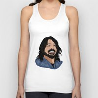 dave grohl Tank Tops featuring Dave Grohl - Fan Art by Matty723