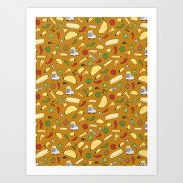 Tacos & Burritos Art Print