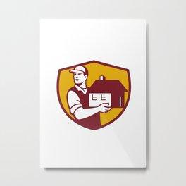 Mover Handling House Crest Retro Metal Print