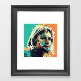 Kurt Pop Art Cobain Framed Art Print