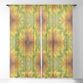 Delighted Sunflowers.... Sheer Curtain