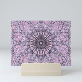 Purple Geometric Mandala Flower c13724.0 Mini Art Print