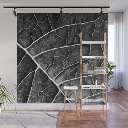LEAF STRUCTURE no2a BLACK AND WHITE Wall Mural