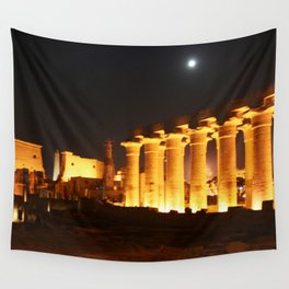 The night and the moon at Temple of Luxor, no. 29 Wall Tapestry