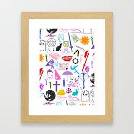Buffy Symbology, Multi-color / Rainbow / PRIDE! Framed Art Print