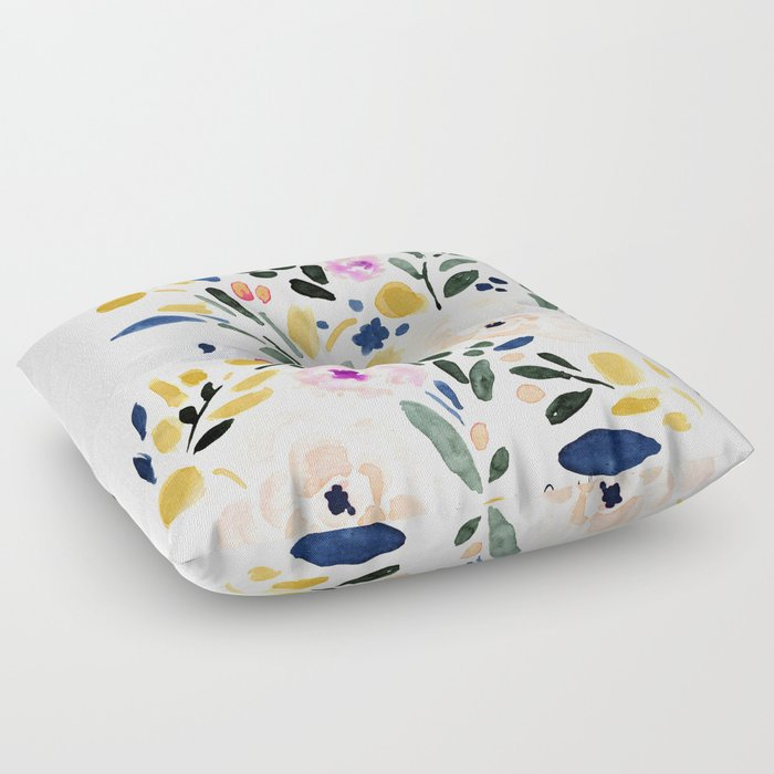 Sierra Floral Floor Pillow by crystalwalen | Society6