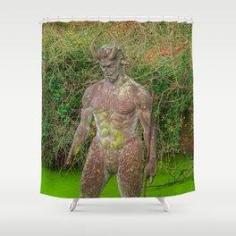 Jersey Satyr Statue Shower Curtain