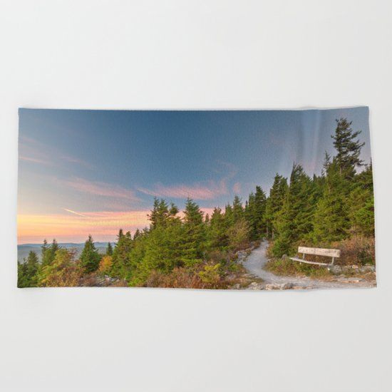 Spruce Knob Twilight Trail Beach Towel