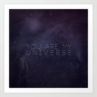universe Art Prints featuring Universe by Leah Flores