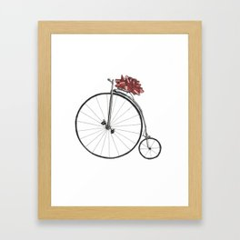 Christmas Bicycle Framed Art Print