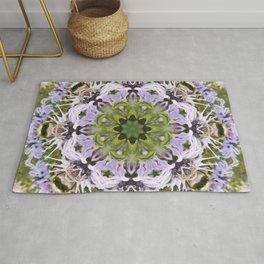 Lacy Lavender Wild Bergamot Kaleidoscope Rug