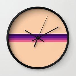 Tennin - Pink Purple Stripes Wall Clock