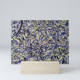 Cobalt Sun Mini Art Print