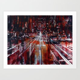 Canal St. in Red Art Print