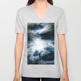 Orion Nebula Blue & Gray Unisex V-Neck