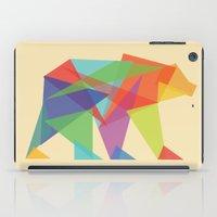 minimalist iPad Cases featuring Fractal Geometric bear by Picomodi