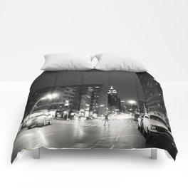 New York City at Night Comforters
