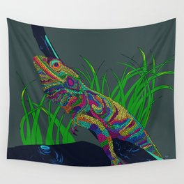 Colorful Lizard Wall Tapestry