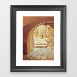 Jerusalem Courtyard Framed Art Print