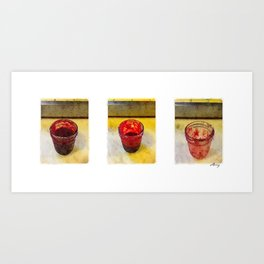 3 Raspberry Jams Art Print
