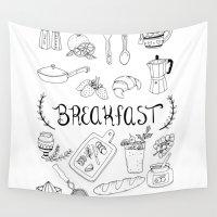 breakfast Wall Tapestries featuring Breakfast by Brooke Weeber
