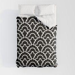 Fan Pattern Black and White 116 Comforters