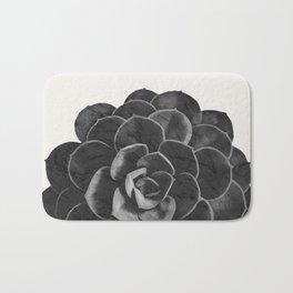 Succulent Black Marble Bath Mat