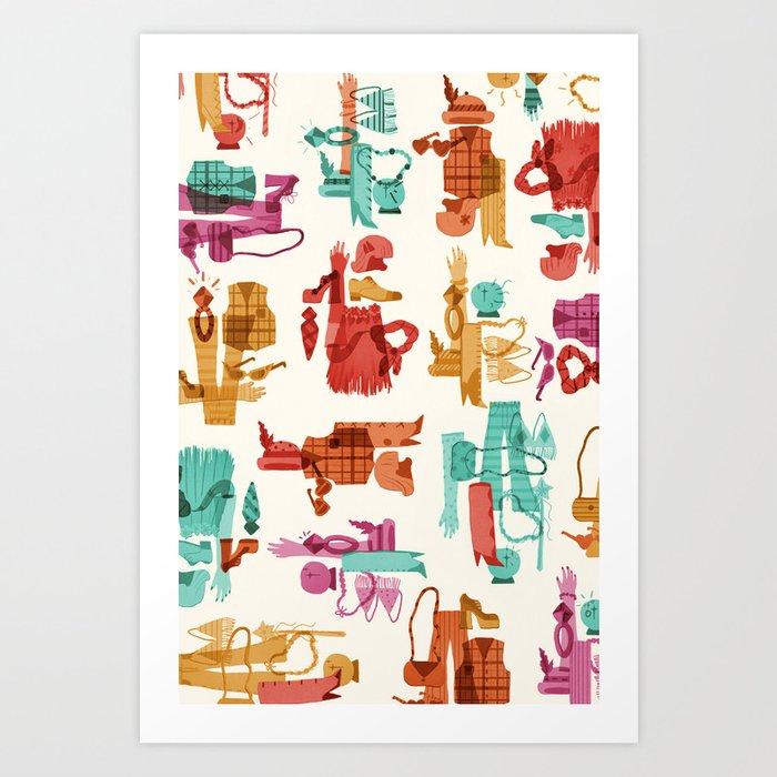 Costume Collage Art Print