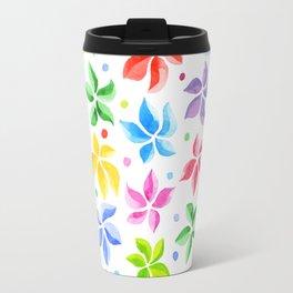 Floral Leaves Travel Mug