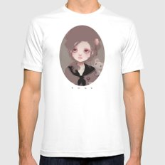 Emma (2011 version) White MEDIUM Mens Fitted Tee