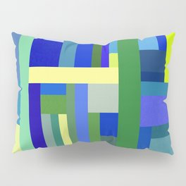 Abstract Blue Lime Pattern Pillow Sham