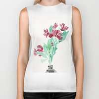 peru Biker Tanks featuring Peru Lilies by Kate Havekost Fine Art